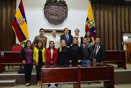 Comisión que visitó Loja.