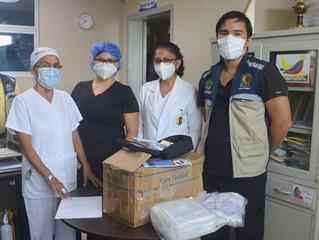 Alcaldía de Pasaje entrego nuevos insumos al hospital San Vicente de Paúl.