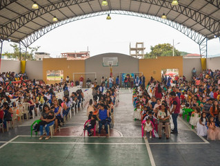 PROYECTO CRECIENDO CON NUESTROS HIJOS GRADUÓ A 214 NIÑOS EN PASAJE