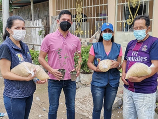 GAD de Pasaje proporciono 300 kits como parte del proyecto huertos familiares