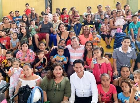 ALCALDÍA DE PASAJE REALIZÓ AGASAJO NAVIDEÑO A LOS NIÑOS DE LA PARROQUIA BUENAVISTA