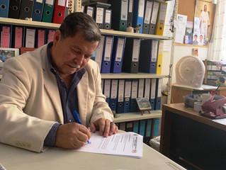 ALCALDE CÉSAR ENCALADA GESTIONA DONACIÓN EN EMBAJADA DE JAPÓN PARA POTENCIAR UBR