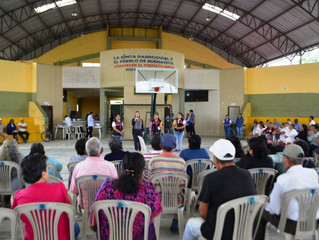 ALCALDÍA DE PASAJE CON FUNDACIÓN OIO REALIZÓ CAMPAÑA VISUAL EN PARROQUIA BUENAVISTA