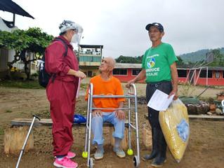 Alcalde entregó ayudas técnicas y humanitarias