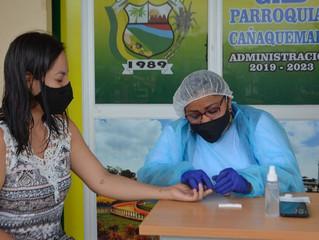 Alcaldía de Pasaje realizó pruebas rápidas de covid-19 en Cañaquemada.