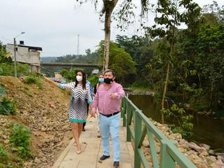 Supervisan trabajos de sendero ecológico