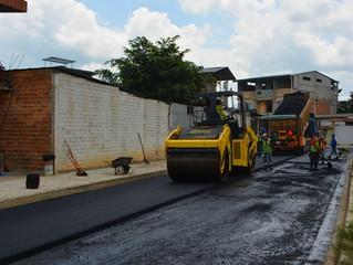 Regeneración de calles en lotización Santa Martha realizado por la alcaldía de Pasaje.