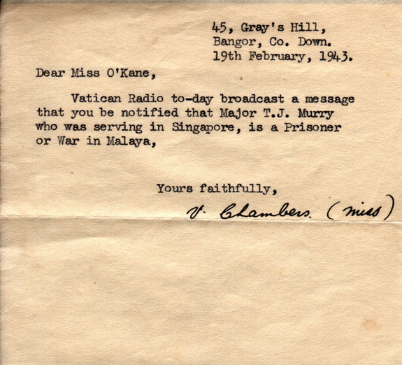 1943.02.19. Vatican Bangor