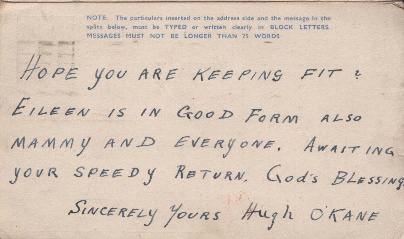 1944.04.09. Hugh O'Kane