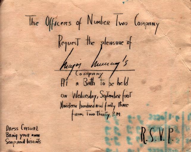 1943.09.01. Bath Invitation
