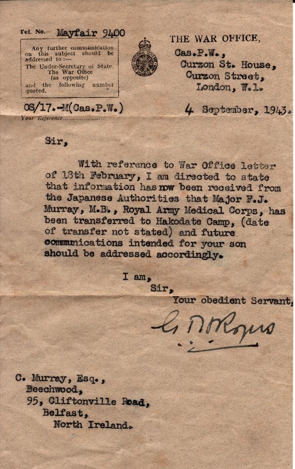 1943.09.04 War Office