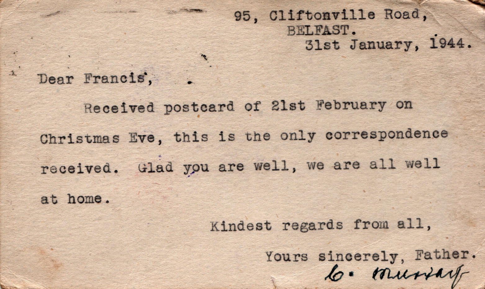 1944.01.31. Charles Murray
