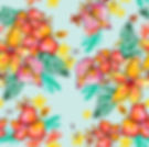 Tropical print_red hibiscus_blue.jpg