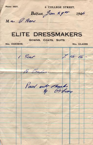 Suit Receipt (29/01/1946)