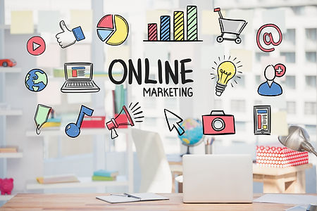 marketing-online-strategy-with-drawings.