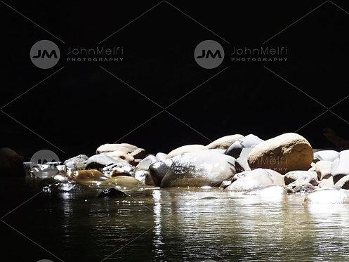 Sunlight on Rocks