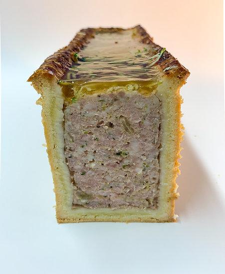 pâté croûte cochon, courgette