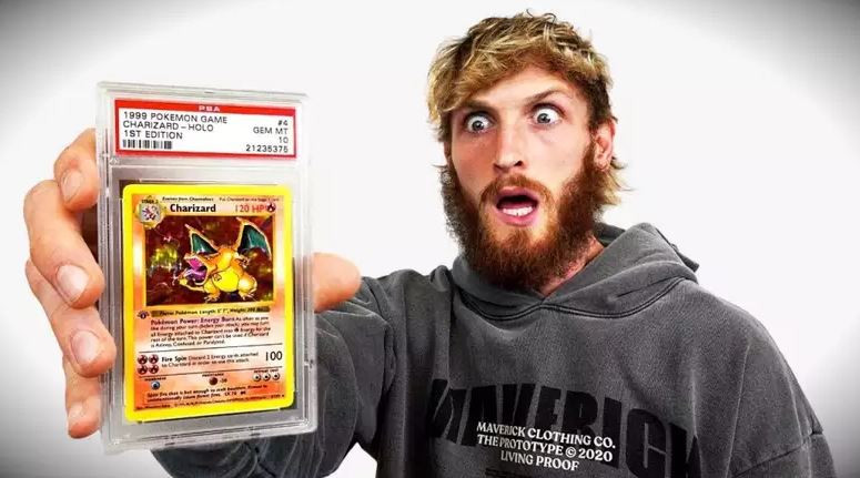 Logan Paul Charizard card