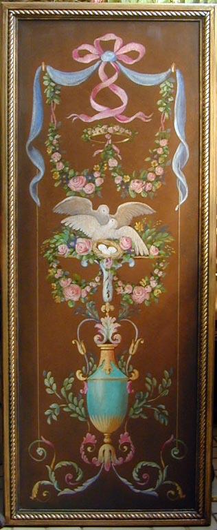 Antique Love Birds Panel