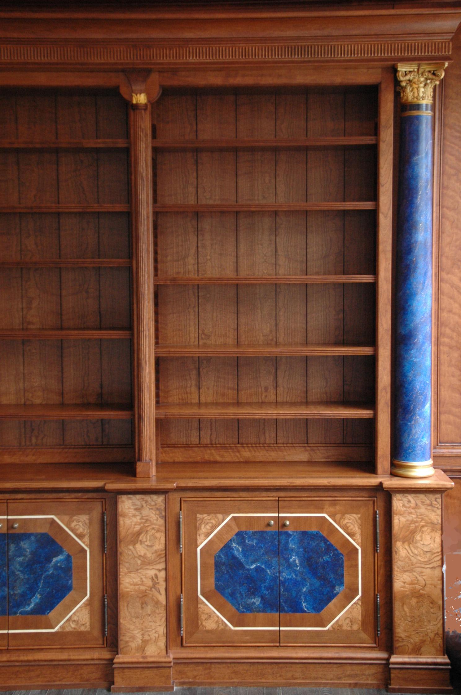 Faux Lapis Lazuli column and panels