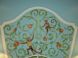 Painted Monkey Headboard