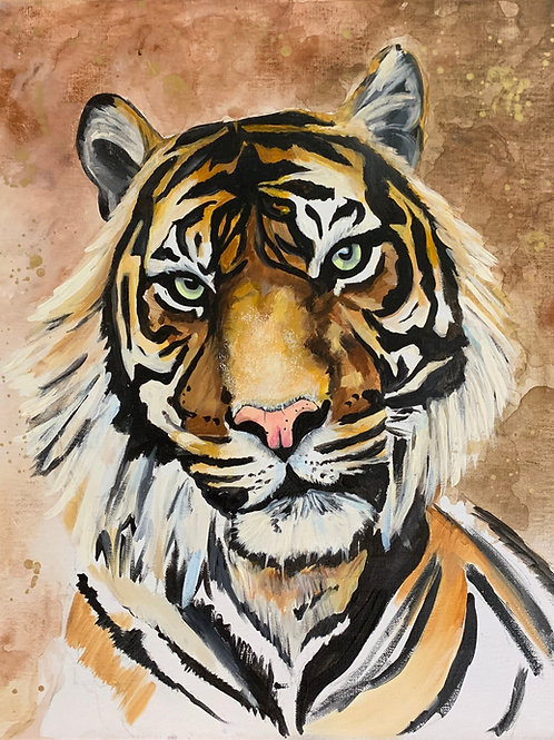 "16""x 20"" Tiger SIGNED Print"