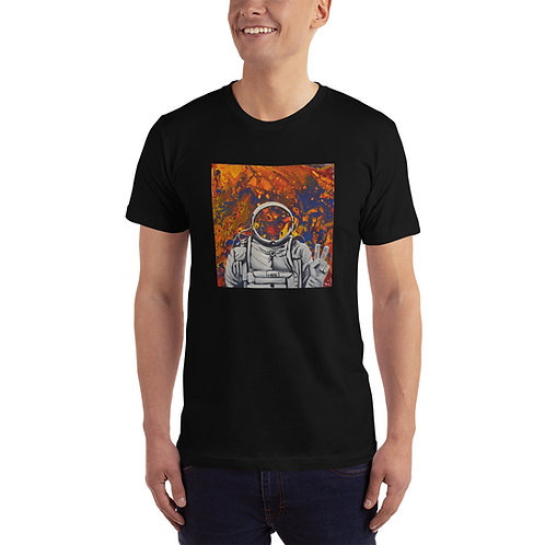 Astronaut In Space - Peace Sign (Unisex Tee)