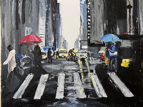 New York City Abstract - SIGNED Print
