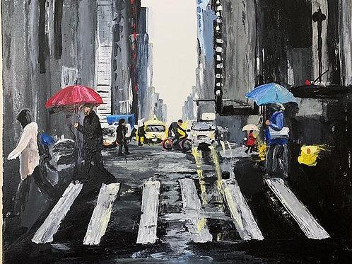 New York City Abstract - Print