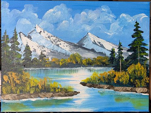 Original Bob Ross Style Landscape