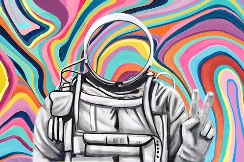 "Technicolor Astronaut 8""X10"" SIGNED Print (Pre-Order)"