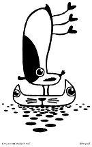 kitty canoe & shorebird too! final Lino