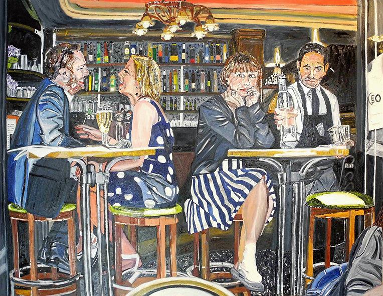130 x 100 cm - Bar à Montmartre