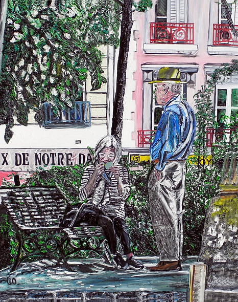 """100 x 130 cm - """"Pause beauté"""""""