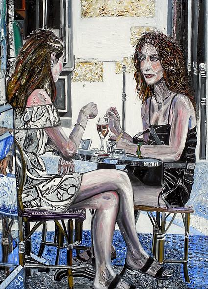 100 x 140 Femmes en terrasse, Paris