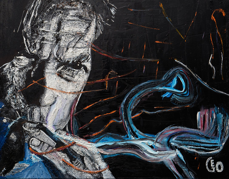 """80 x 60 cm - """"Clint Eastwood and Bird"""""""