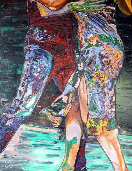 """100 x 130 cm - """" Moi je suis Tango Tango"""""""