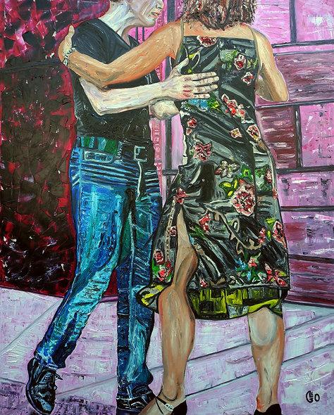 "120 x 150 cm - ""Moi je suis tango 2"""