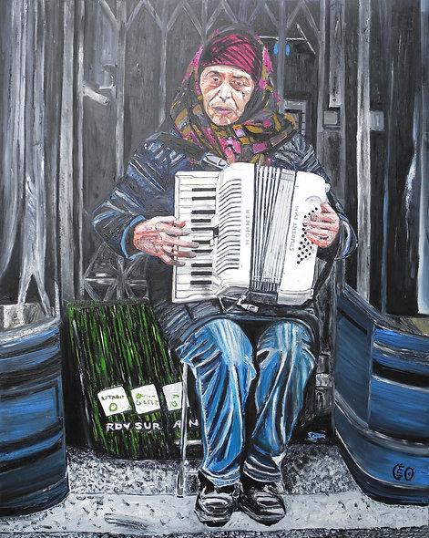 120 x 150 cm - La femme accordéoniste