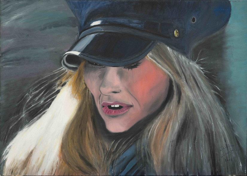 70 x 50 cm - The policewoman