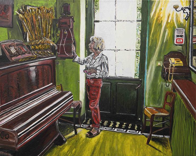 """100 x 80 cm  - """"Marie-Claude dans la maison de Van Gogh"""""""