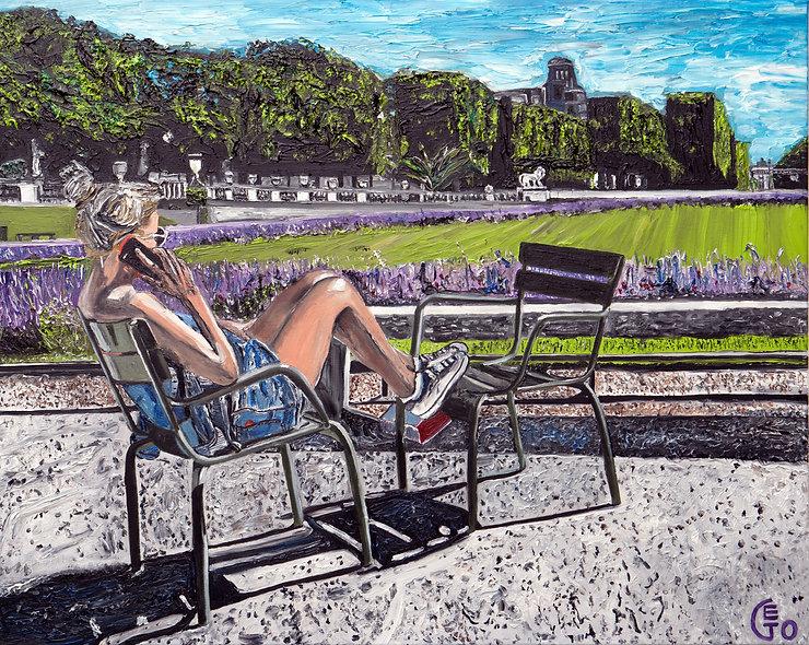 100 x 80 cm - Jardin du Luxembourg