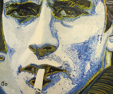 120 x 100 cm  - Alain Delon