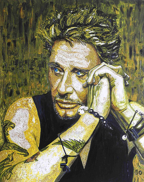 120 x 150 cm - Johnny Halliday