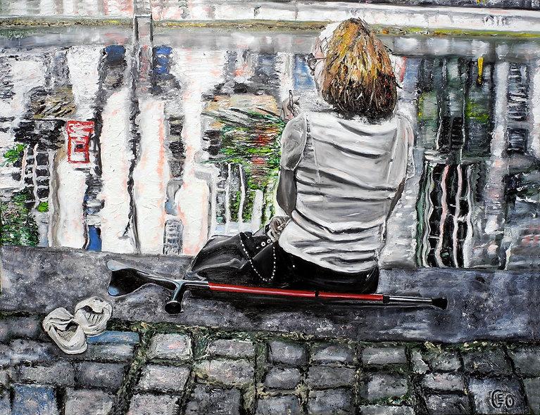 130 x 100 cm - Canal St Martin, Paris