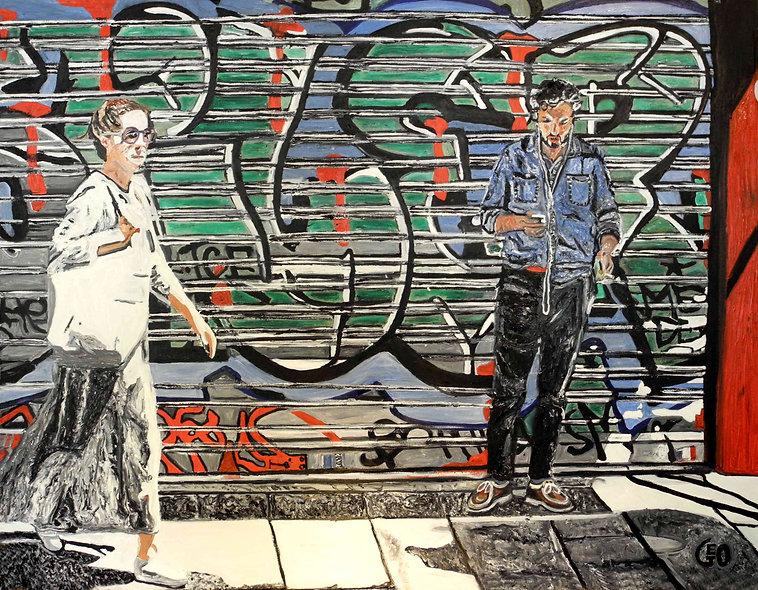 130 x 100 cm - Paris graffiti