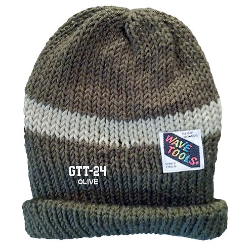OLIVE COLOR - Hand Knitted Beanie Hat for Men and Woman #24