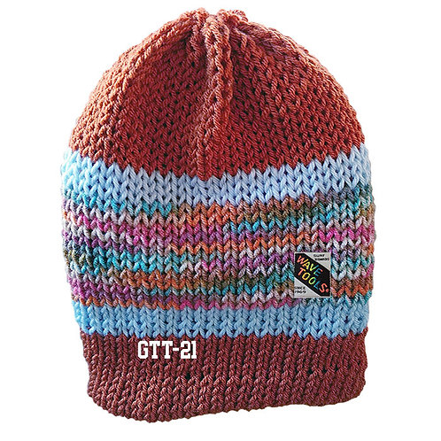 CINNAMON and Blues - Hand Knitted Beanie Hat for Men and Woman #21