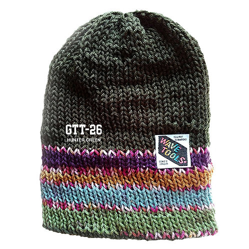 HUNTER GREEN COLOR - Hand Knitted Beanie Hat for Men and Woman #26