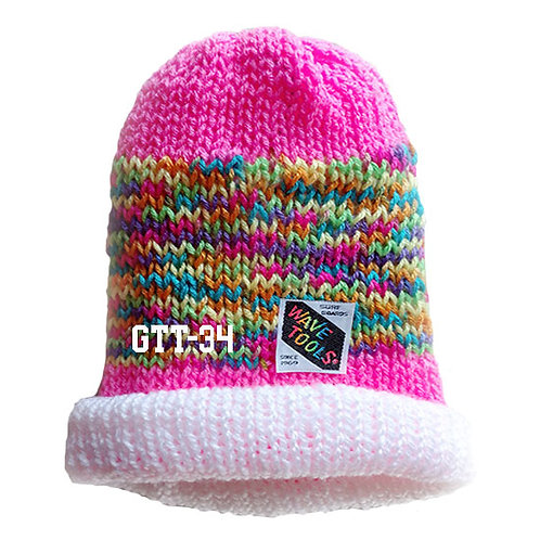 HOT PINK COLOR - Hand Knitted Beanie Hat for Men and Women #34